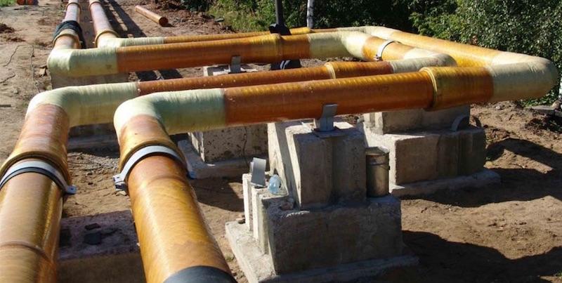 Прокладки водопровода надземным способом