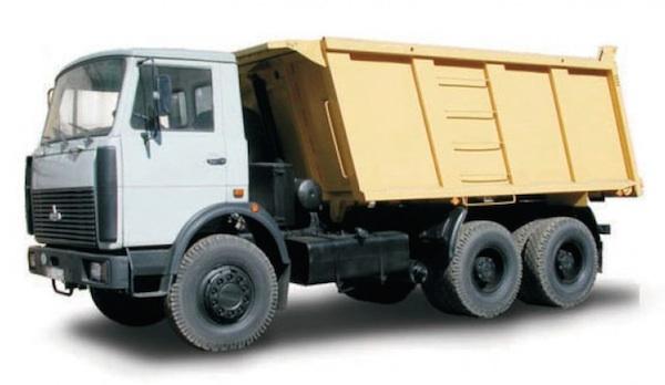 Самосвал МАЗ 551605 грузоподъемностью 20 тонн