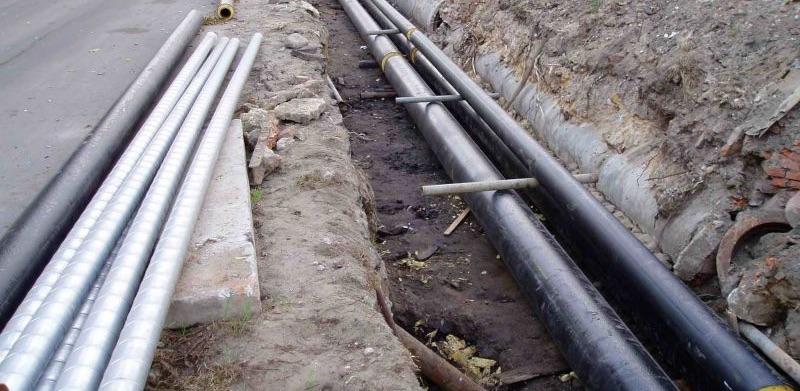 Прокладки водопровода траншейным способом